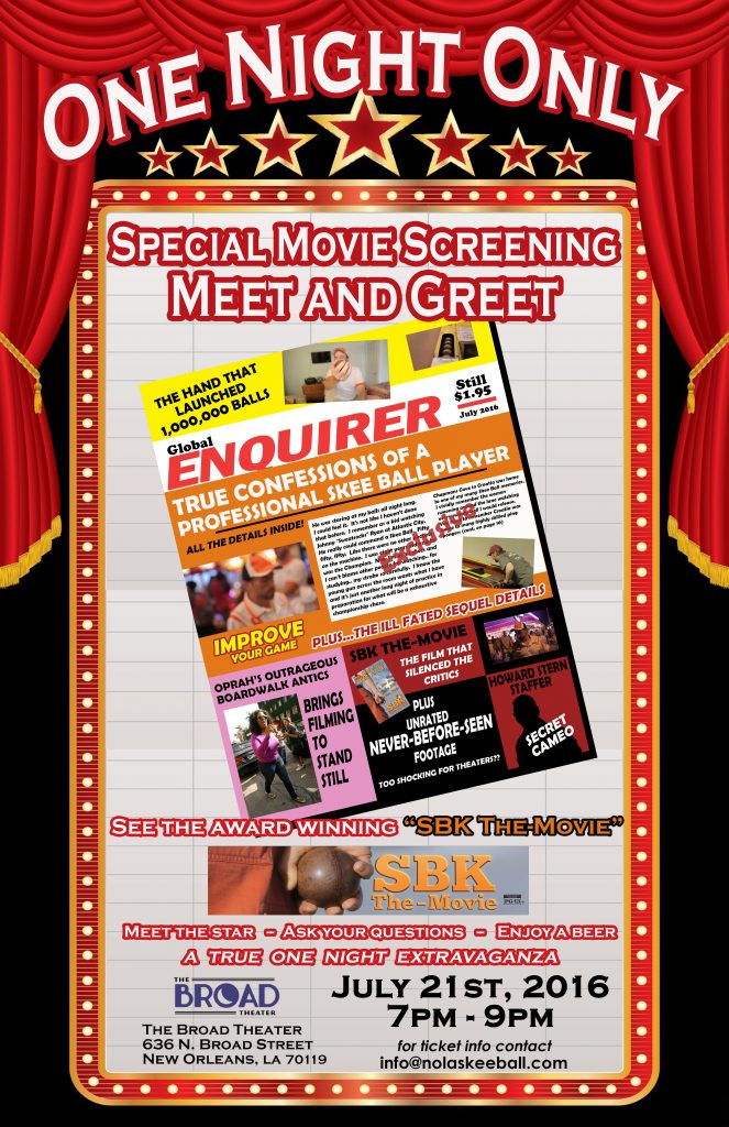 SBK The-Movie screening in New Orleans poster