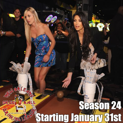 Skeeball season starting January 31, 2019